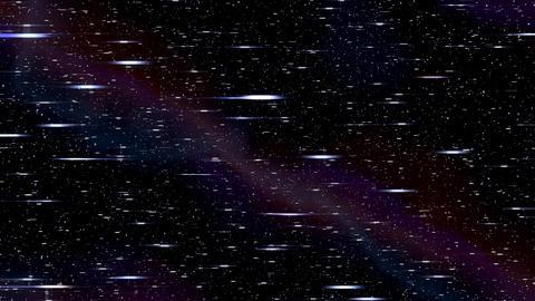 Space horizontal warp speed hyperspace travel through starfield nebula l-r 4K Footage