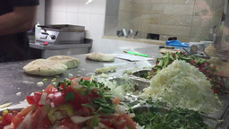 Falafel Middle Eastern shop Footage