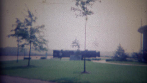 1965: Civil War Centennial Center Sports Arena Newly Built Dome stock footage