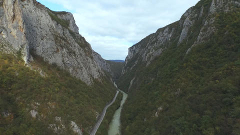 Aerial view of a Vrbas river, Bosnia and Herzegovina Filmmaterial