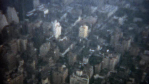 1961: Downtown Manhattan view from Empire State Building Footage