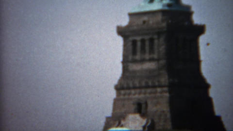 1961: Statue of Liberty closeup tilt up and far shot Footage