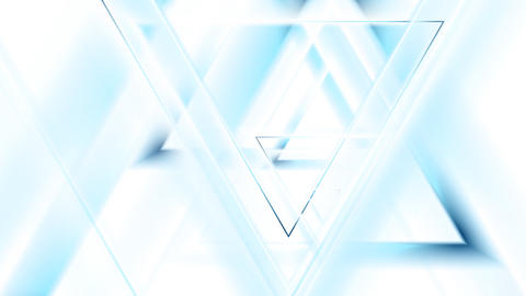 Light blue tech triangles animated motion background Animation