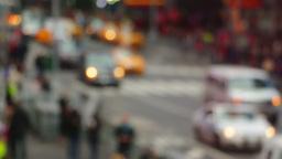 Blurred Street Traffic Footage