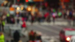 Pedestrians on the Street. Blurred Footage