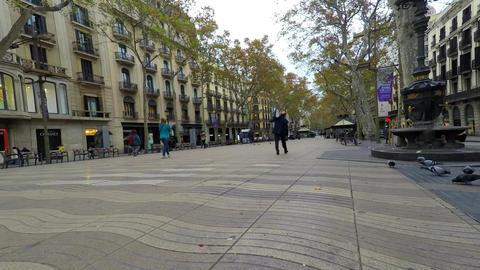 Historic City Street Pedestrians Footage