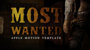 Most Wanted Apple Motion-Vorlage