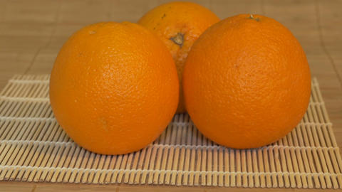 Oranges on the Table in Kitchen Footage