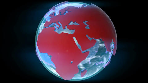 CG Earth rotating globe Footage