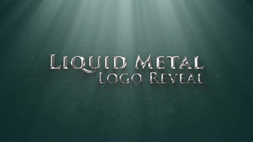Liquid Metal Logo Reveal After Effects Templates