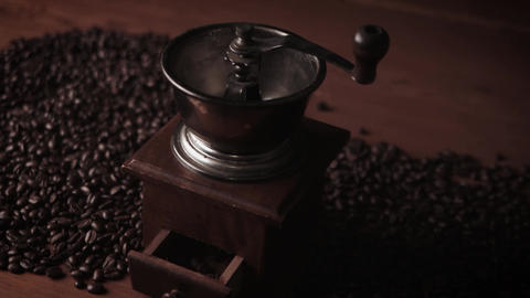 An old coffee grinder Footage