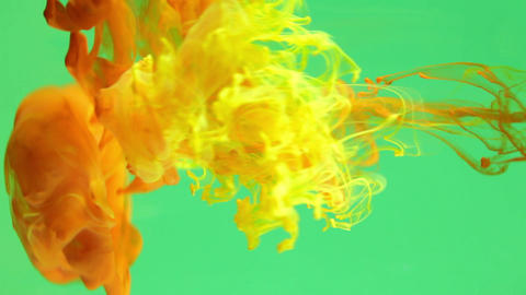 Ink in water chroma key Footage
