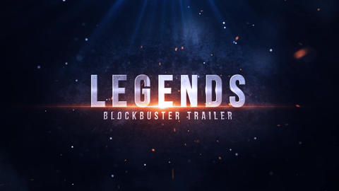 Legends Blockbuster Trailer After Effectsテンプレート