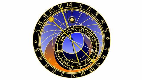 Astronomical clock Stock Video Footage