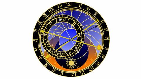 Astronomical clock Animación