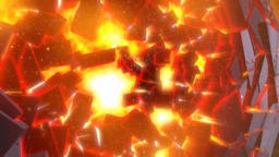 Planet exploded CG動画素材