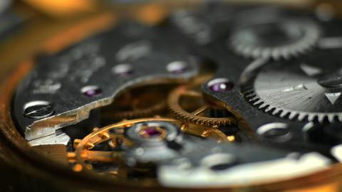 1080p Watch Mechanism / Clockwork / Time Keeping Footage