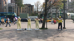 Falun Dafa Xinyi district Taipei Taiwan 1 Footage