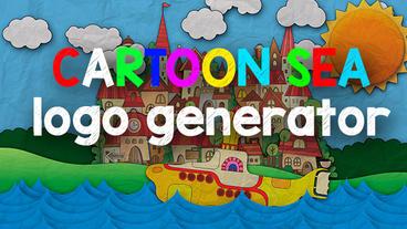 Cartoon sea logo generator Plantilla de Apple Motion