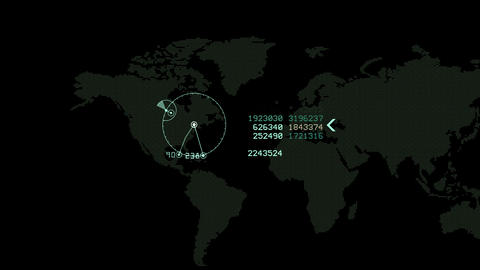 World map HUD interface, animation with alpha channel loop Animation