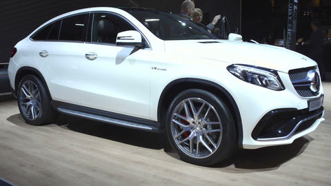Mercedes-AMG GLE 63 Coupe crossover luxury SUV Filmmaterial