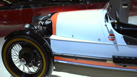 Morgan 3 Wheeler Gulf Edition sports car Footage