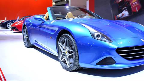 Ferrari California T convertible sports car Live Action
