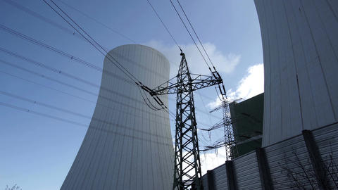 Industrial Cooling Towers With Electrical Pylon Footage