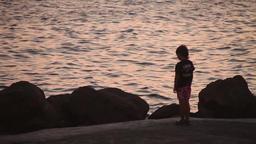 Boy And Sea Footage