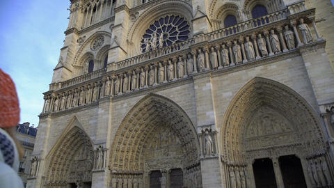 Notre-Dame de Paris, famous Gothic cathedral attracting millions of tourists Footage