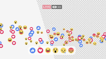 Facebook live interface screen Plantilla de After Effects