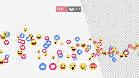 Facebook live interface screen After Effectsテンプレート