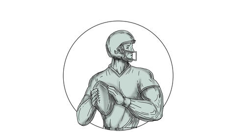 Quarterback Throwing Football 2D Animation Animation