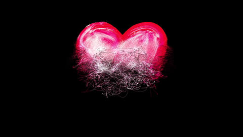 Emerging heart Animation