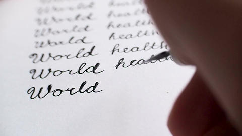 World health day calligraphy and lettering typographical design. Eighth line. Cl Footage