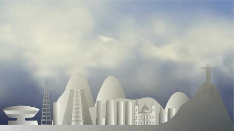 Clouds in Rio de Janeiro Animation