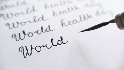 World health day calligraphy and lettering typographical design. Eleventh line w Footage