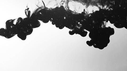 Ink drop in water Footage