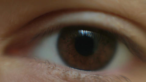 Video of a man opening his eye Footage