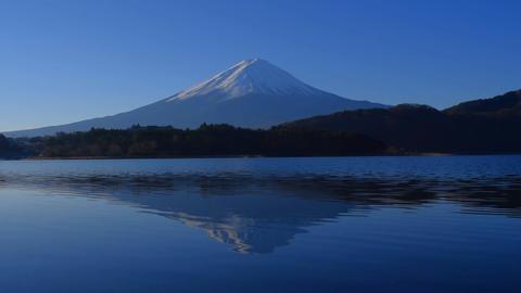 河口湖大石地区から青空快晴の逆さ富士山1/2 ビデオ