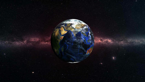 Planet Earth in Deep Space GIF