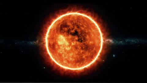 Sun static star bg Footage