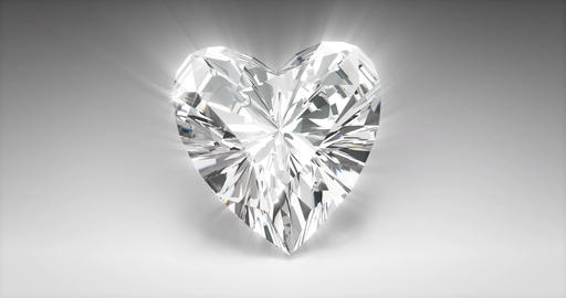Heart Cut Diamond Animation