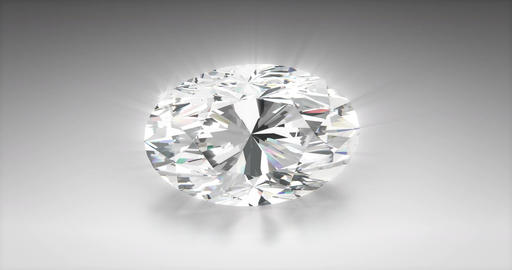 Oval Cut Diamond Animation