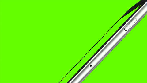 Smartphone turns on on Green background. Easy customizable green screen. Compute ライブ動画