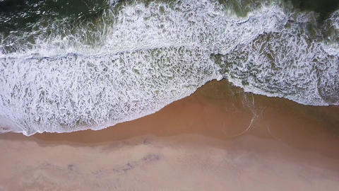 Ocean waves crashing on beach Footage