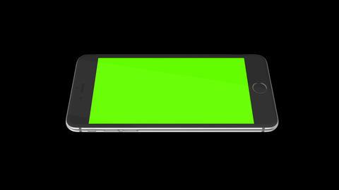 Smartphone turns on on black background. Easy customizable green screen. Compute ライブ動画
