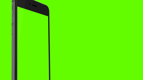 Smartphone turns on on Green background. Easy customizable green screen. Compute GIF