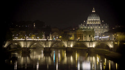 Saint Peter's Basilica church in Vatican City, papal enclave in Rome, timelapse Footage