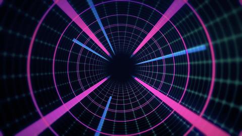 4K Tunnel Loop Digital Footage
